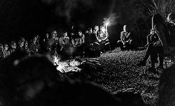 05.09.2016, Sigmund Thun Klamm, Kaprun, im Bild Sagen werden am Lagerfeuer erzählt. die Sagenhafte Nacht des Wassers kann von Juli bis September besucht werden, eine Nachtwanderung durch die Klamm mit anschliessendem Lagerfeuer, Musik und Geschichtenerzähler // Stories are told around the campfire during the Mystical Night of Water can be visited from July to September on a night walk through the Sigmund Thun gorge followed by campfire, music and storytellers, Kaprun, Austria on 2016/09/05. EXPA Pictures © 2016, PhotoCredit: EXPA/ JFK