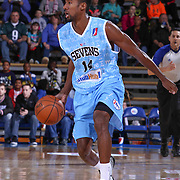 Delaware 87ers Forward Malcolm Lee (14) dribbles the ball up court in the first half of a NBA D-league regular season basketball game between the Delaware 87ers and the Texas Legends (Dallas Mavericks) Sunday, Jan. 25, 2015 at The Bob Carpenter Sports Convocation Center in Newark, DEL