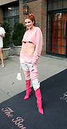 Bella Thorne in a pink outfit at New York Fashion Week - 10 Sep 2017
