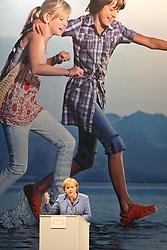 14.05.2010, Messe, Muenchen, GER, Oekt , Vortrag Angela Merkel, im Bild Angela Merkel (Bundeskanzlerin) auf der Buehne, EXPA Pictures © 2010, PhotoCredit: EXPA/ nph/  Straubmeier / SPORTIDA PHOTO AGENCY