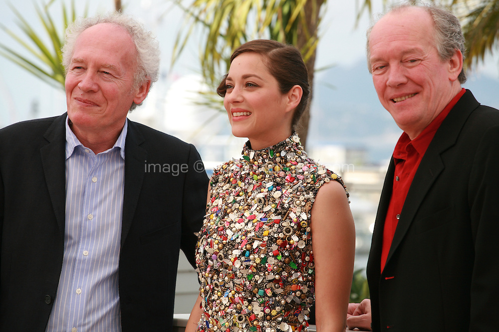 Jean-Pierre Dardenne, Marion Cotillard and Luc Dardenne at the photo call for the film Foxcatcher at the 67th Cannes Film Festival, Tuesday 20th May 2014, Cannes, France.
