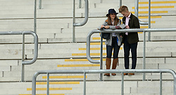 General view of spectators during the April Meeting at Cheltenham Racecourse