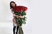 Violets are blue, roses are....how much!<br /> <br /> An online florist has unveiled this year's most extravagant Valentine's bouquet – a bunch of roses costing £10,000.<br />  <br /> These are not just any roses, however. They are grown 2,800 metres above sea level amid the mountains of Ecuador and stand five feet tall.<br />  <br /> For £10,000, you get 1,000 of the blooms, each one with an average of 60 petals that are renowned for their soft, velvety, rounded appearance. <br />  <br /> For good measure, ArenaFlowers.com, the online florist selling the giant-sized bouquet, throws in an iPad and bottle of Louis Roederer Cristal champagne.<br />  <br /> The flowers are part of a range of gifts for Valentine's Day called One of a Kind which launches today.<br /> <br /> Photo shows: 50 of The World's Largest Roses £750.00<br /> ©Exclusivepix Media