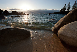 """Boulders at Secret Cove"" - These boulders were photographed during sunset at Secret Cove, Lake Tahoe."