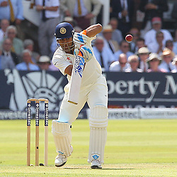 India's Mahendra Singh Dhoni  during the first day of the Investec 2nd Test match between England and India at Lords, London, 17th July 2014 © Phil Duncan | SportPix.org.uk