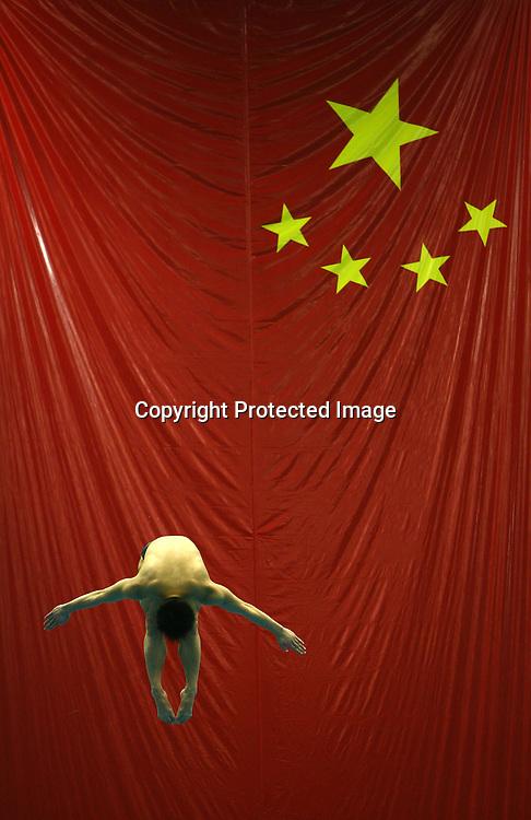 2007.1.15  北京 国家体育总局游泳训练馆  正在训练的跳水队队员