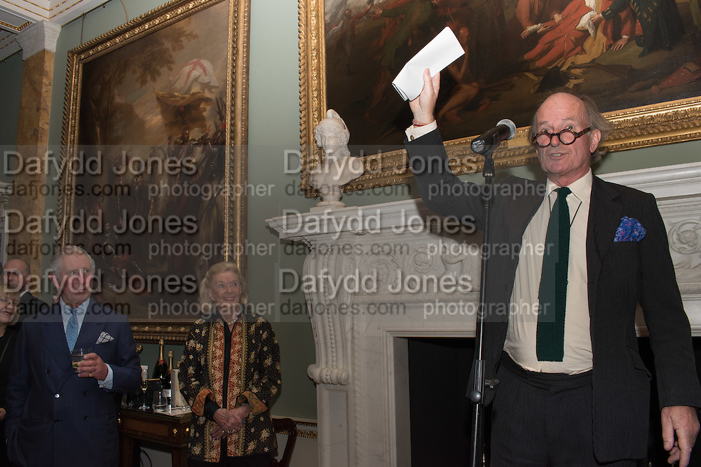 THE PRINCE OF WALES; DAVID CAMPBELLEveryman 25th Anniversary party, Spencer House. St. James' Place. London. SW1. 26 October 2016