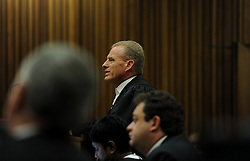 BY COURT ORDER, THIS IMAGE IS FREE TO USE.<br /> 61178313<br /> State prosecutor Gerrie Nel in the Pretoria High Court on March 6, 2014, in Pretoria, South Africa. Pistorius stands accused of the murder of his girlfriend, Reeva Steenkamp, on February 14, 2014. This is Pistorius official trial, the result of which will determine the paralympian athlete s fate,Thursday, 6th March 2014. Picture by  imago / i-Images<br /> UK ONLY