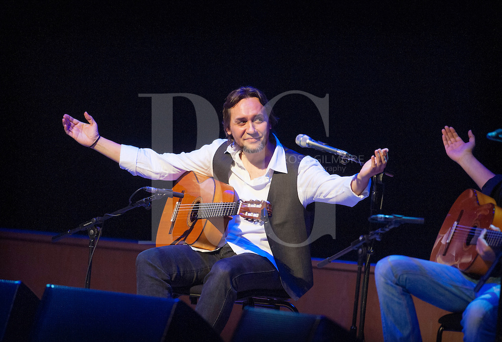 GLASGOW, UNITED KINGDOM - JANUARY 18: Vicente Amigo performs his world premiere performance of his new flamenco/Celtic project Tierra, on stage on Day 2 of The Celtic Connections Festival at Glasgow Royal Concert Hall on January 18, 2013 in Glasgow, United Kingdom. (Photo by Ross Gilmore