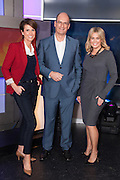 Samantha Armytage joins Sunrise. L/R Natalie Barr, David Koch and Samntha Armytage in the Sunrise Studio, Channel 7, Sydney.