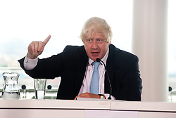 Legacy of London's Olympic and Paralympic Games press conference.<br /> Mayor of London, Boris Johnson speaks during the press conference,<br /> London, United Kingdom<br /> Thursday, 25th July 2013<br /> Picture by Piero Cruciatti / i-Images