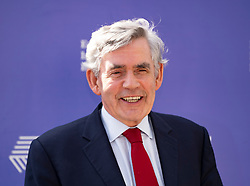 Edinburgh, Scotland, UK. 26 August 2019. Gordon Brown visits the Edinburgh International Book Festival.  Iain Masterton/Alamy Live News.