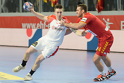 MOLLGAARD JENSEN Henrik of Denmark during handball match between National teams of Macedonia and Denmark on Day 7 in Main Round of Men's EHF EURO 2018, on January 24, 2018 in Arena Varazdin, Varazdin, Croatia. Photo by Mario Horvat / Sportida