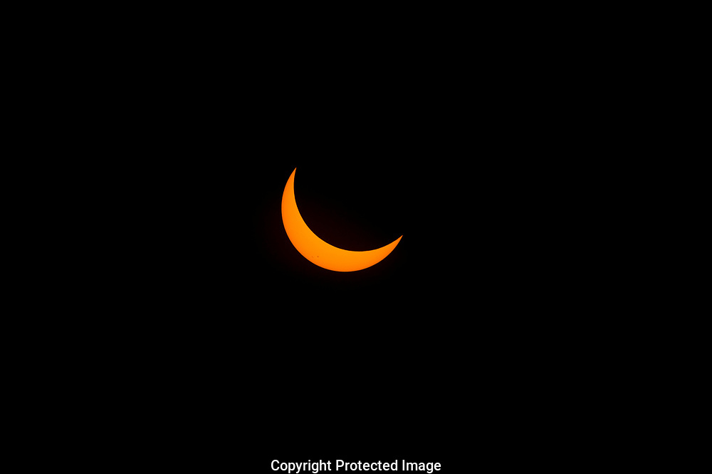 Total Solar Eclipse as seen from the National Historic Oregon Trail Interpretive Center near Baker City Oregon, Monday, Aug. 21, 2017. (Photo/John Froschauer)