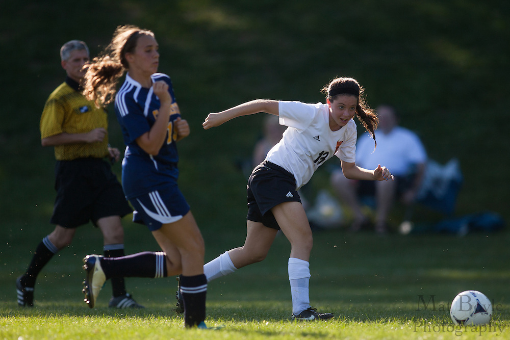 Pitman High School Girl's Soccer vs Gloucester City High School at Alcyon Park in Pitman, NJ on Wednesday September 12, 2012. (photo / Mat Boyle)