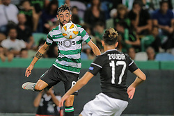 September 20, 2018 - Na - Lisbon, 20/09/2018 - Europa League 2018/2019: Sporting vs Qarabag FK The Sporting Clube de Portugal (PRT) received this evening at the Alvalade XXI stadium, the Qarabag FK (AZE) E) of the group stage of the Europa League 2018 / 2019. Bruno Fernandes  (Credit Image: © Atlantico Press via ZUMA Wire)