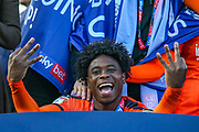 Luton Town midfielder Pelly-Ruddock Mpanzu (17) at the end of the game during the EFL Sky Bet League 1 match between Luton Town and Oxford United at Kenilworth Road, Luton, England on 4 May 2019.