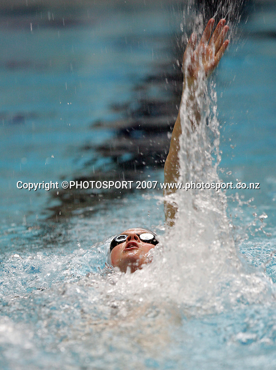 Natalie Wiergersma. New Zealand Swimming Spring Competition. Wellington Regional Aquatic Centre, Wellington, New Zealand. Tuesday 25 September 2007. Photo: Hagen Hopkins/PHOTOSPORT