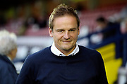 AFC Wimbledon manager Neal Ardley walking off the pitch during the EFL Sky Bet League 1 match between AFC Wimbledon and Gillingham at the Cherry Red Records Stadium, Kingston, England on 12 September 2017. Photo by Matthew Redman.
