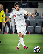 LAFC midfielder Lee Nguyen (24) during an MLS soccer match. LAFC defeated the San Jose Earthquakes 4-0 Wednesday, Aug. 21, 2019, in Los Angeles. (Ed Ruvalcaba/Image of Sport)