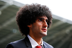 Marouane Fellaini of Manchester United arrives at the stadium - Mandatory byline: Rogan Thomson/JMP - 07966 386802 - 30/08/2015 - FOOTBALL - Liberty Stadium - Swansea, Wales - Swansea City v Manchester United - Barclays Premier League.