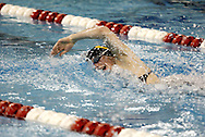 Centerville senior Darcy Heuser competes in the 500 yard freestyle during the Girls Division I District Swimming Tournament at the Corwin Nixon Natatorium at Miami University, Saturday, February 16, 2008.