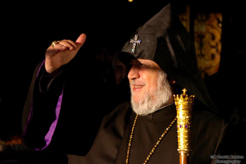Pope of the Armenian Church, His Holiness Karekin II, visits Monmouth University.