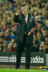 LIVERPOOL, ENGLAND - Saturday, November 20, 2010: Liverpool's manager Roy Hodgson during the Premiership match against West Ham United at Anfield. (Photo by: David Rawcliffe/Propaganda)
