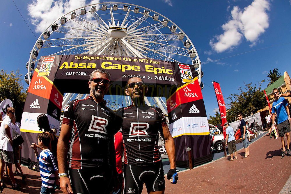 Mario Roma and blind partner ....... from Brazil will race on a tandem. Pre race events held in and around Cape Town prior to the start of the 2011 Absa Cape Epic Mountain Bike stage race held in The Western Cape, South Africa between the 27th March and the 3rd April 2011..Photo by Sven Martin/Cape Epic/SPORTZPICS