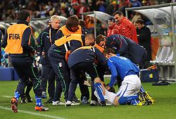 Football - soccer: FIFA World Cup South Africa 2010, Italy (ITA) - Paraguay (PRY), L' ESULTANZA DEI CALCIATORI ITALIANI DOPO IL GOL DEL PAREGGIO