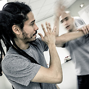 British instructor Edward Hines teaches Bagua, an internal form of Kungfu at the I-Bagua school.