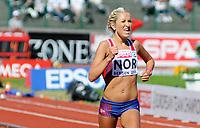 Friidrett<br /> 20. juni 2010<br /> Fana Stadion , Bergen , Norway<br /> European team championships<br /> 5000 M Woman<br /> Karoline Bjerkeli Grøvdal , NOR<br /> Foto : Astrid M. Nordhaug