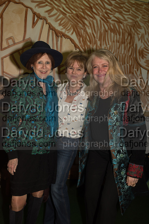 MARJORIE WALLACE; RACHEL KELLY; HON LAURA SANDYS, Launch of The Happy Kitchen: Good Mood Food, by Rachel Kelly and Alice Mackintosh. Squirrel, South Kensington. London. 31 January 2017