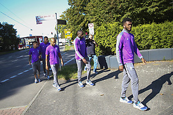 September 18, 2018 - Na - Castrop-Rauxel, 18/09/2018 - Morning walk of the Fc Porto next to the Hotel Vienna House Easy Castrop-Rauxel, Germany. Ot√°vio, Milit√£o, Brahimi, Marega, Chidozie  (Credit Image: © Atlantico Press via ZUMA Wire)