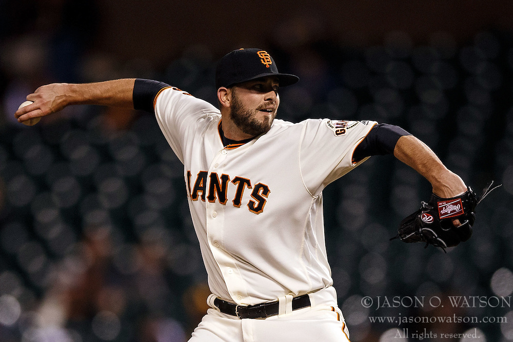 SAN FRANCISCO, CA - APRIL 18: Chris Heston #53 of the San Francisco Giants pitches against the Arizona Diamondbacks during the eleventh inning at AT&T Park on April 18, 2016 in San Francisco, California. The Arizona Diamondbacks defeated the San Francisco Giants 9-7 in 11 innings.  (Photo by Jason O. Watson/Getty Images) *** Local Caption *** Chris Heston