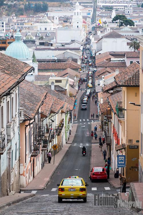Street scene in Quito, Ecuador