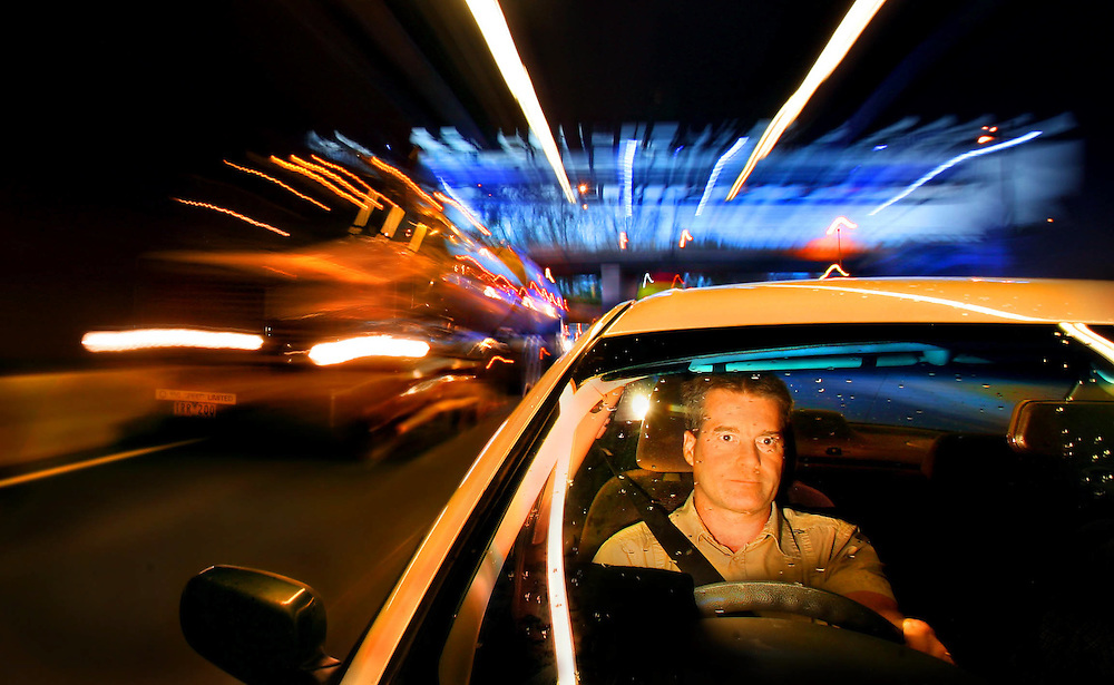 Visiting Fellow with the Monash University Accident Research Centre Ruggero Ceci drives through Melbournes Burnley and Domain Tunnels  Pic By Craig Sillitoe SPECIALX 000 melbourne photographers, commercial photographers, industrial photographers, corporate photographer, architectural photographers, This photograph can be used for non commercial uses with attribution. Credit: Craig Sillitoe Photography / http://www.csillitoe.com<br />
