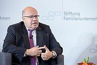 28 JUN 2019, BERLIN/GERMANY:<br /> Peter Altmeier, CDU, Bundeswirtschaftsminister, waehrend einer Diskussion, Tag des Deutschen Familienunternehmens, Hotel Adlon<br /> IMAGE: 20190628-01-146