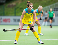 BRUSSEL - Laura Barden (Aus.)  during  the match   AUSTRALIA v SPAIN , Fintro Hockey World League Semi-Final (women) . COPYRIGHT KOEN SUYK