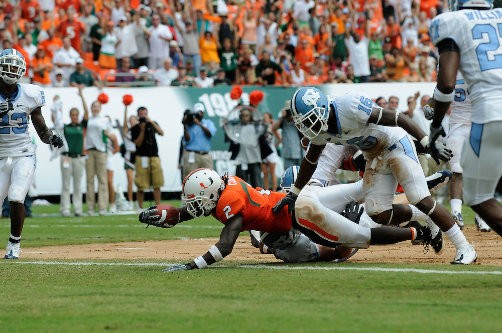 2008 Miami Hurricanes Football vs North Carolina