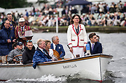 Henley Royal Regatta, Henley on Thames, Oxfordshire, 28 June - 2 July 2017.  Wednesday  15:28:25   28/06/2017  [Mandatory Credit/Intersport Images]<br /> <br /> Rowing, Henley Reach, Henley Royal Regatta.<br /> <br /> Miss G Batten, Umpire