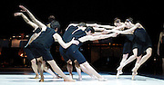 American Ballet Theater<br /> at Sadler's Wells, London, Great Britain <br /> Press photocall<br /> 1st February 2011<br /> <br /> Everything Doesn't Happen at Once<br /> Isabella Boylston<br /> Marcello Gomes<br /> and ensemble<br /> <br /> Photograph by Elliott Franks