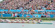 Eton Dorney, Windsor, Great Britain,..2012 London Olympic Regatta, Dorney Lake. Eton Rowing Centre, Berkshire[ Rowing]...Description;  Men's Eights Final..GER.M8+. Filip ADAMSKI (b) , Andreas KUFFNER (2) , Eric JOHANNESEN (3) , Maximilian REINELT (4) , Richard SCHMIDT (5) , Lukas MUELLER (6) , Florian MENNIGEN (7) , Kristof WILKE (s) , Martin SAUER (c).CAN.M8+.  Gabriel BERGEN (b) , Douglas CSIMA (2) , Rob GIBSON (3) , Conlin MCCABE (4) , Malcolm HOWARD (5) , Andrew BYRNES (6) , Jeremiah BROWN (7) , Will CROTHERS (s) , Brian PRICE (c).GBR.M8+ Alex PARTRIDGE (b) , James FOAD (2) , Tom RANSLEY (3) , Richard EGINGTON (4) , Mohamed SBIHI (5) , Greg SEARLE (6) , Matt LANGRIDGE (7) , Constantine LOULOUDIS (s) , Phelan HILL (c).USA.M8+ David BANKS (b) , Grant JAMES (2) , Ross JAMES (3) , William MILLER (4) , Giuseppe LANZONE (5) , Stephen KASPRZYK (6) , Jacob CORNELIUS (7) , Brett NEWLIN (s) , Zachary VLAHOS (c).NED.M8+. Sjoerd HAMBURGER (b) , Diederik SIMON (2) , Rogier BLINK (3) , Matthijs VELLENGA (4) , Roel BRAAS (5) , Jozef KLAASSEN (6) , Olivier SIEGELAAR (7) , Mitchel STEENMAN (s) , Peter WIERSUM (c).AUS.M8+. Matthew RYAN (b) , Francis HEGERTY (2) , Cameron MCKENZIE MCHARG (3) , Bryn COUDRAYE (4) , Thomas SWANN (5) , Joshua BOOTH (6) , Samuel LOCH (7) , Nicholas PURNELL (s) , Tobias LISTER (c)  Dorney Lake. 12:35:53  Wednesday  01/08/2012.  [Mandatory Credit: Peter Spurrier/Intersport Images].Dorney Lake, Eton, Great Britain...Venue, Rowing, 2012 London Olympic Regatta...