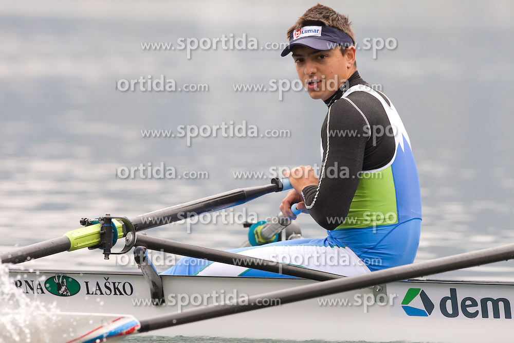 Gasper Fistravec  during media day of Slovenian National rowing team before World Championships in New Zealand 2010 on October 14, 2010 in Mala Zaka, Bled, Slovenia. (Photo by Vid Ponikvar / Sportida)