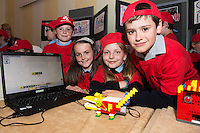 Kirsten Willock, Robyn Deegan, Wiktorin Silich and Evan McDonagh Forghas from the Claddagh NS  at the annual Junior FIRST Lego League run by Galway Education Centre, in the Radisson blu Hotel.  Photo:Andrew Downes<br />  Photo:Andrew Downes, XPOSURE