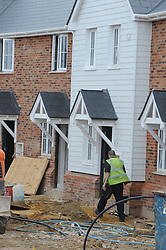 © Licensed to London News Pictures. 03/07/2013<br /> Construction underway on new homes (today 03.07.2013) in <br /> St Pauls Cray, Orpington,Kent.<br /> The construction industry grew at its fastest pace for more than a year last month (June 2013) - fuelling hopes that the UK economy is finally on the mend.<br /> Photo credit :Grant Falvey/LNP