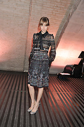 EDIE CAMPBELL at a private view of 'Valentino: Master Of Couture' at Somerset House, London on 28th November 2012.