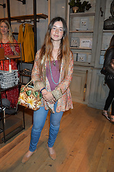 Singer songwriter FLO MORRISSEY at a party to celebrate the publication of The Naturalista by Xochi Balfour held at Anthropologie, 158 Regent Street, London on 19th April 2016.