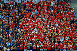 LYON, FRANCE - Wednesday, July 6, 2016: Wales supporters during the UEFA Euro 2016 Championship Semi-Final match at the Stade de Lyon. (Pic by Paul Greenwood/Propaganda)