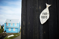 A scene from island Flatey, Iceland. Flatey is the largest island of the western island, a cluster of about forty large and small islands and islets located in Breiðafjörður on the northwestern part of Iceland.